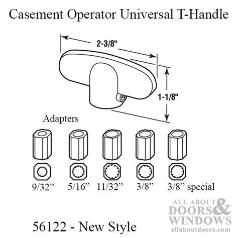 casement window operator universal tee handle diecast zinc choose color