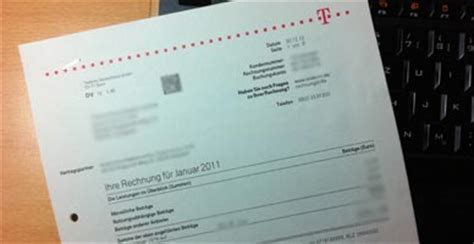 telekom papierrechnung telekom rechnung  post erhalten