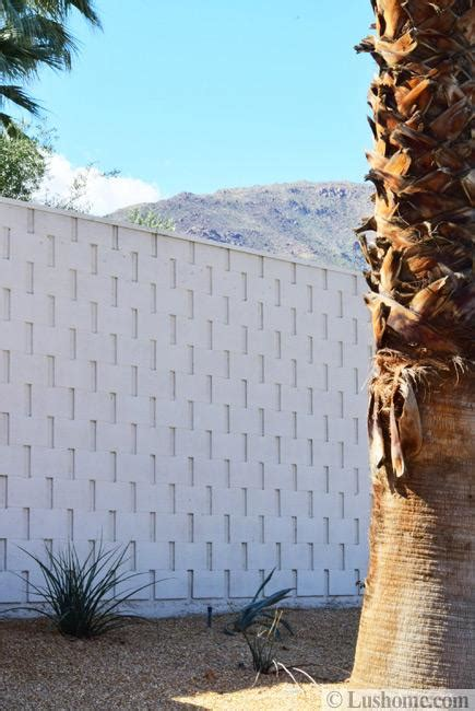 mid century modern block wall designs showing
