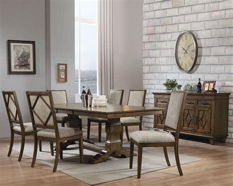 acme aurodoti oak double pedestal dining room set
