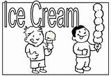 Coloring Ice Cream 101coloring Kindergarten Printable Cards Teacher sketch template