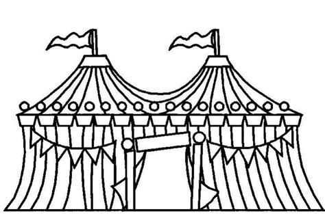 Circustent Kleurplaat by Kleurplaat Circustent Circus