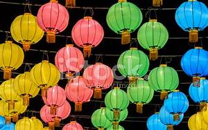 Colorful Chinese Lantern Illuminated AT Night stock photos ...