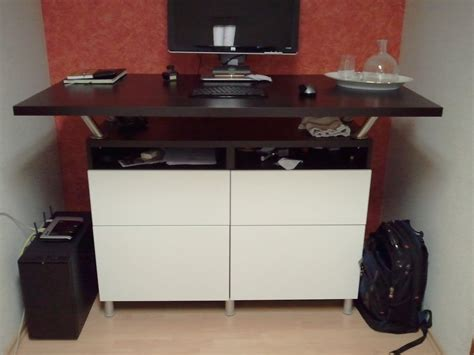 ikea standing desk legs beautiful standing desk made from besta cabinets and