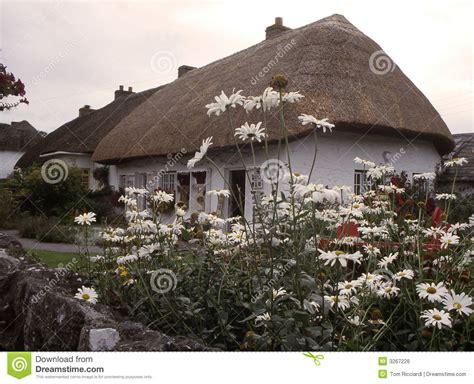 cottage in irlanda cottage thatched adare irlanda immagine stock libera da