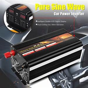 New 12v  24v To 220v 7000w Pure Sine Wave Power Inverter