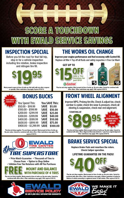 Buick Service Coupons by Chevy Buick Service Parts Coupons Ewald Chevrolet