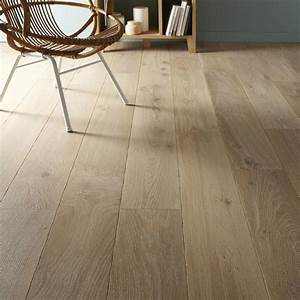 parquet contrecolle chene blanchi huile xxl broceliande With parquet blanc leroy merlin