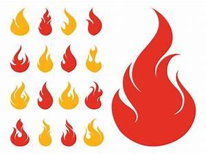 Fire Icons Set Vector Art & Graphics   freevector.com