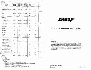 Shure 444d And 526t Service Manual Download  Schematics