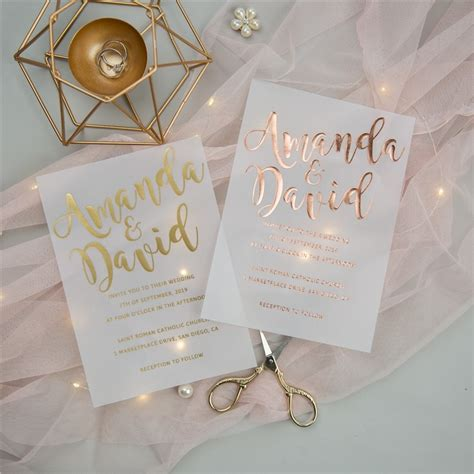 luxury modern custom foil wedding invitation suites