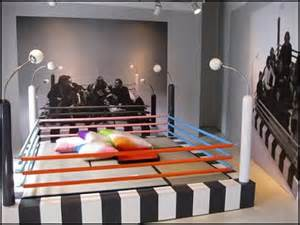 kids twin bed boxing ring sports home design ideas