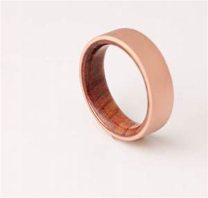 copper wedding band copper wood ring cocobolo ring With copper wedding rings