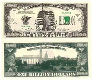 Liberty Statue - One Billion Dollar Note x 5 | eBay