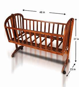 Wooden Mobile Baby Cradle by Mudramark Online - Beds