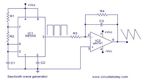 Sawtooth Wave Generator Using Opamp