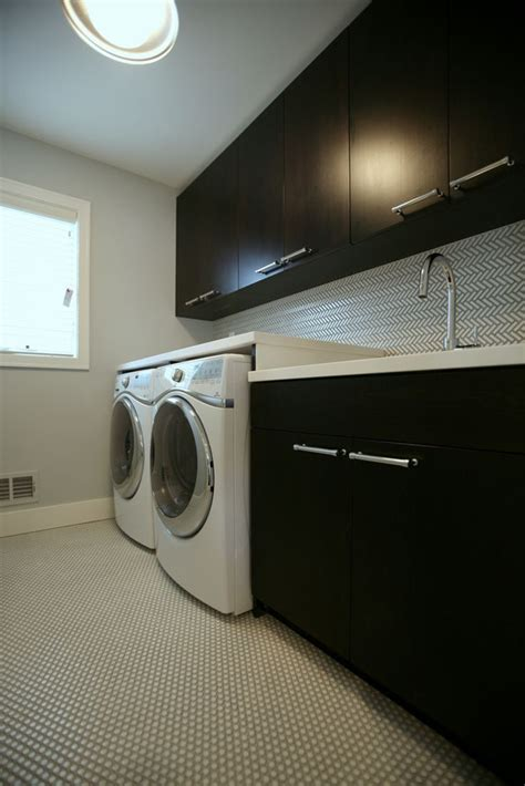 romantic dark laundry room