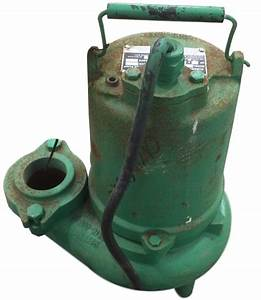 Used 3  4hp Hydromatic Submersible Sump Sewage Pump Model