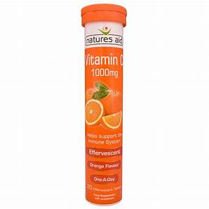 Vitamin C 1000mg Effervescent  Orange Flavour  20 U0026 39 S  The Natural Dispensary