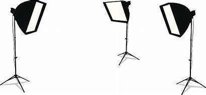 Studio Vector Background Clip Lamps Isolated Three