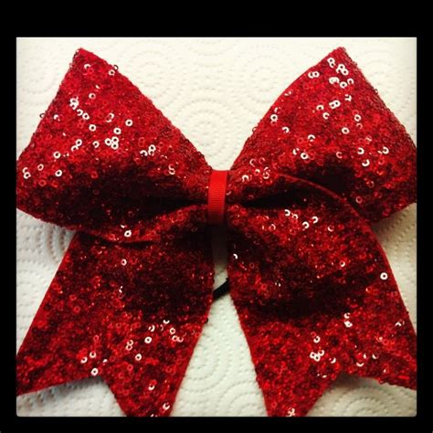 sparkly red sequin bow 3 inch ribbon