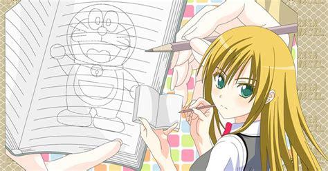 menggambar anime doraemon  cepat manga council
