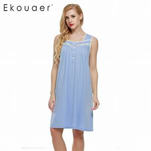 【Ekouaer Sleeveless Nightgown sexy • women women Lingerie ...