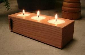 Wood Candle Holder, Tea Light Candle Holder, Home Decor