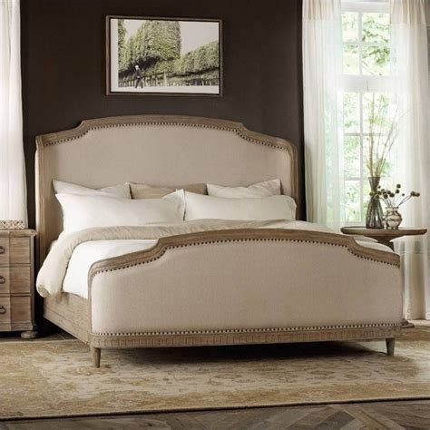 hooker furniture corsica upholstered shelter bed  light