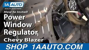 How To Install Replace Power Window Regulator Chevy S10
