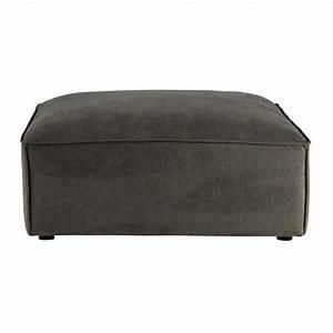 Pouf De Canapé : pouf de canap modulable en tissu taupe gris malo ~ Teatrodelosmanantiales.com Idées de Décoration