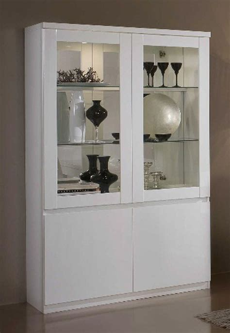 vitrine 2 portes roma laqu 233 blanc