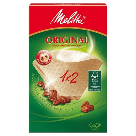 Melitta Coffee Filter Papers 1X2 40 Pack   Groceries   Tesco Groceries