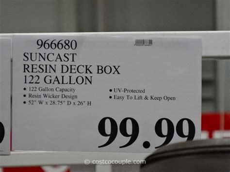 suncast wicker deck box 122 gallon suncast resin deck box