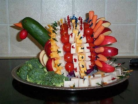 thanksgiving turkey vegetable platter ideas