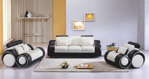 Contemporary Black And White Leather Sofa Set Mesa Arizona
