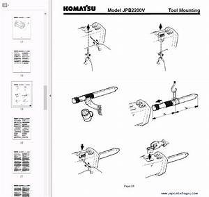 Komatsu Hydraulic Breaker Jpb2200v Set Of Pdf Manuals