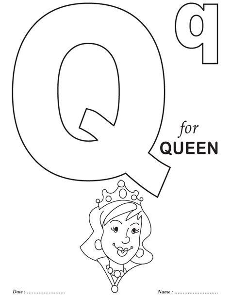 letter q coloring pages getcoloringpages