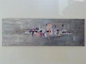 Tableau Rose Et Gris : tableau abstrait gris et rose ~ Teatrodelosmanantiales.com Idées de Décoration