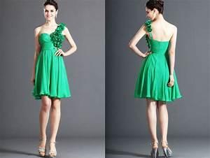 robe de soiree courte mousseline de soie plissee verte With robe verte femme