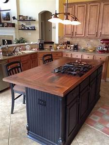 Walnut Island counter tops - Traditional - Kitchen