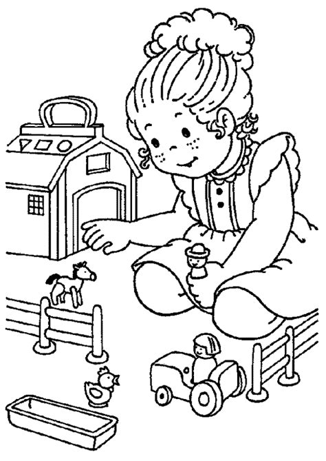 Coloriage Récréation Petite Fille
