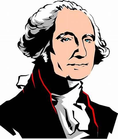 Washington George Clipart Cartoon Clip President Drawing