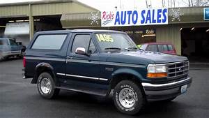 1995 Ford Bronco Xlt 4x4 Sold