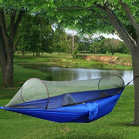 camping hammocktopist hammock tent pop  mosquito net ultralight durable parachute fabric