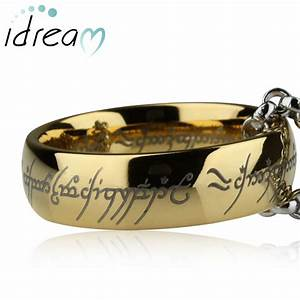 gold lord of the rings tungsten wedding band for men or With lord of the rings wedding band sets