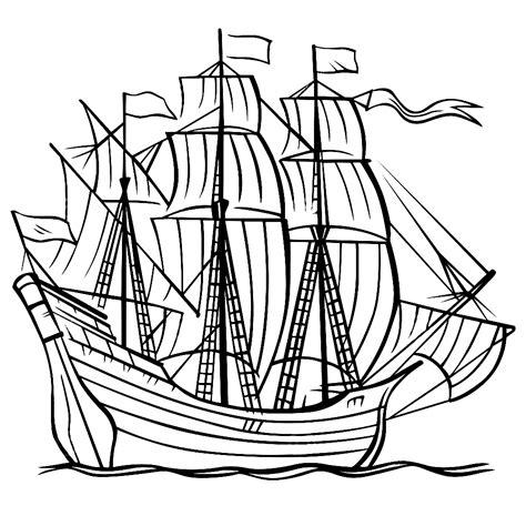 Schip Kleurplaat by Leuk Voor Zeilschepen 0008
