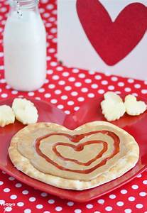 Peanut Butter and Jelly Heart Flatbread - Finding Zest