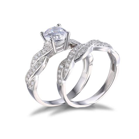 jewelrypalace 1 5ct cz wedding bridal sets ring solid 925 sterling silver ebay
