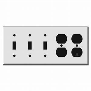 3 Toggle 2 Duplex Outlet Switch Plate